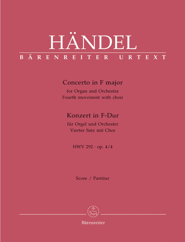 Georg Friedrich Händel: Concerto: Organ: Score
