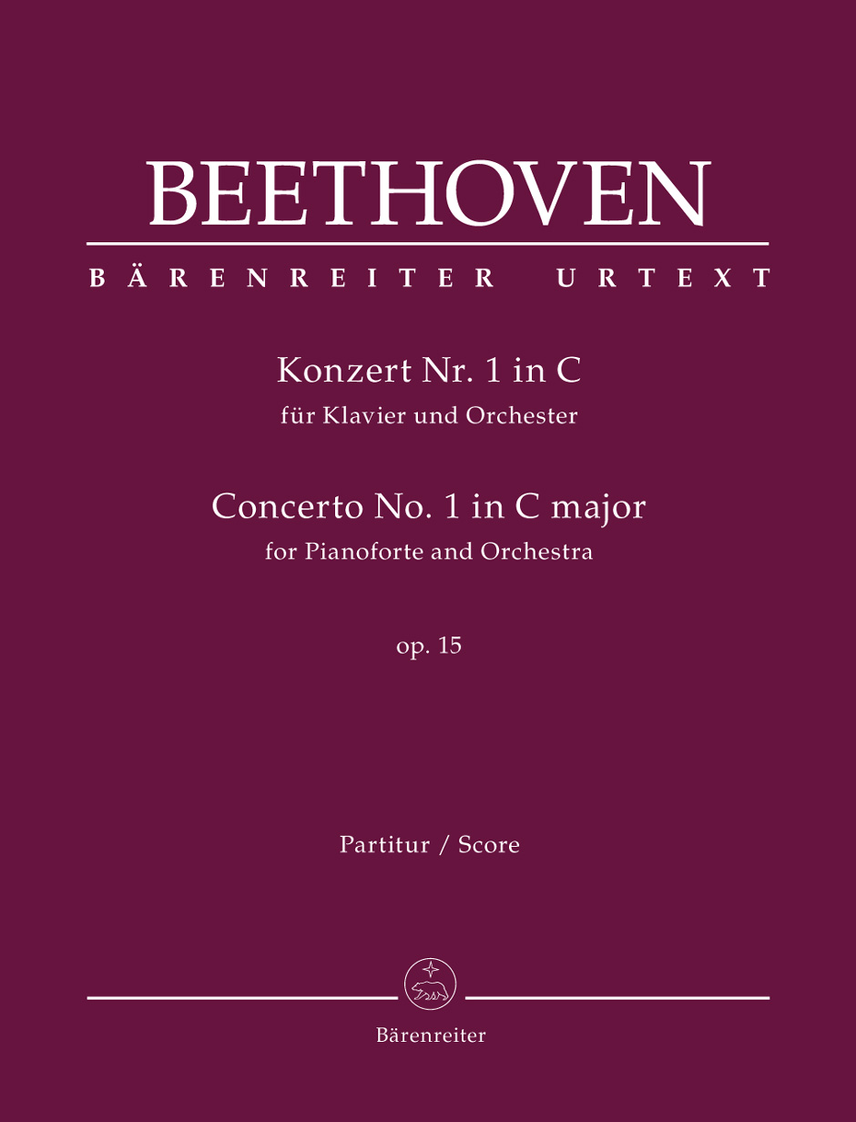 Ludwig van Beethoven: Concerto No.1 In C Major Op.15 For Piano: Piano: Score