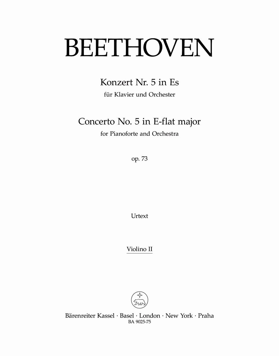 Ludwig van Beethoven: Piano Concerto No.5 In E-flat Op.73 - Emperor: Piano: