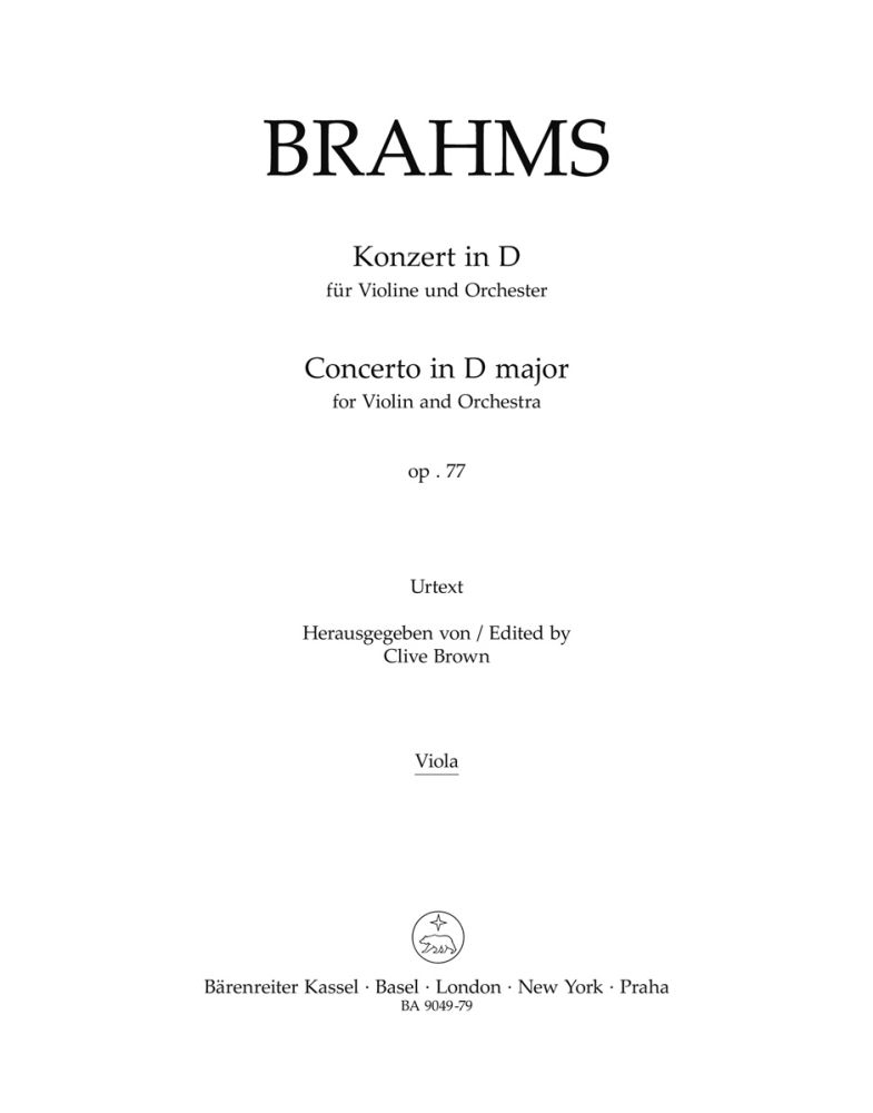 Johannes Brahms: Concerto: Violin: Part