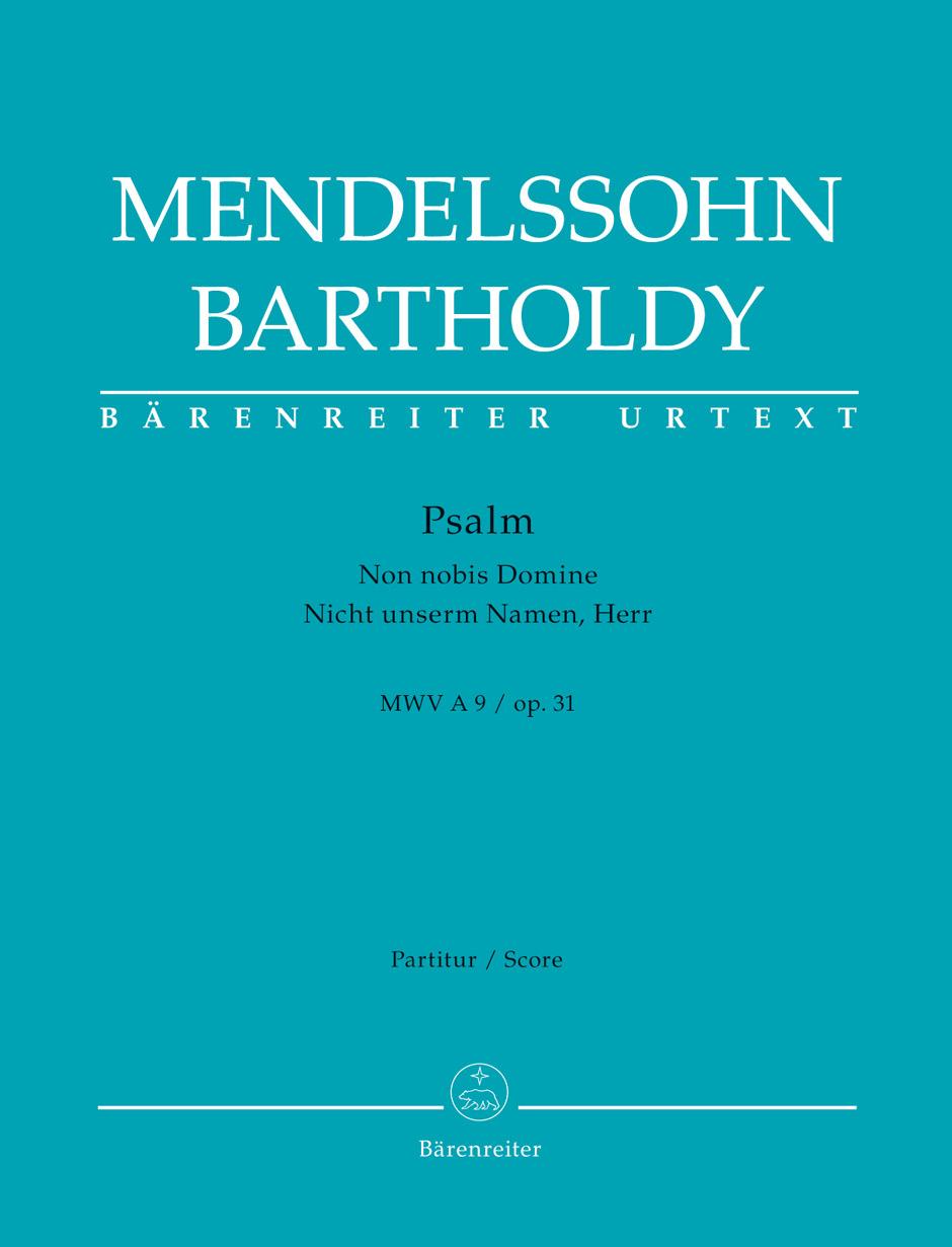 Felix Mendelssohn Bartholdy: Psalm Non nobis Domine op. 31: Mixed Choir: Score