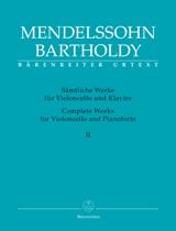 Felix Mendelssohn Bartholdy: Cello Works Complete Volume 2: Cello: Instrumental
