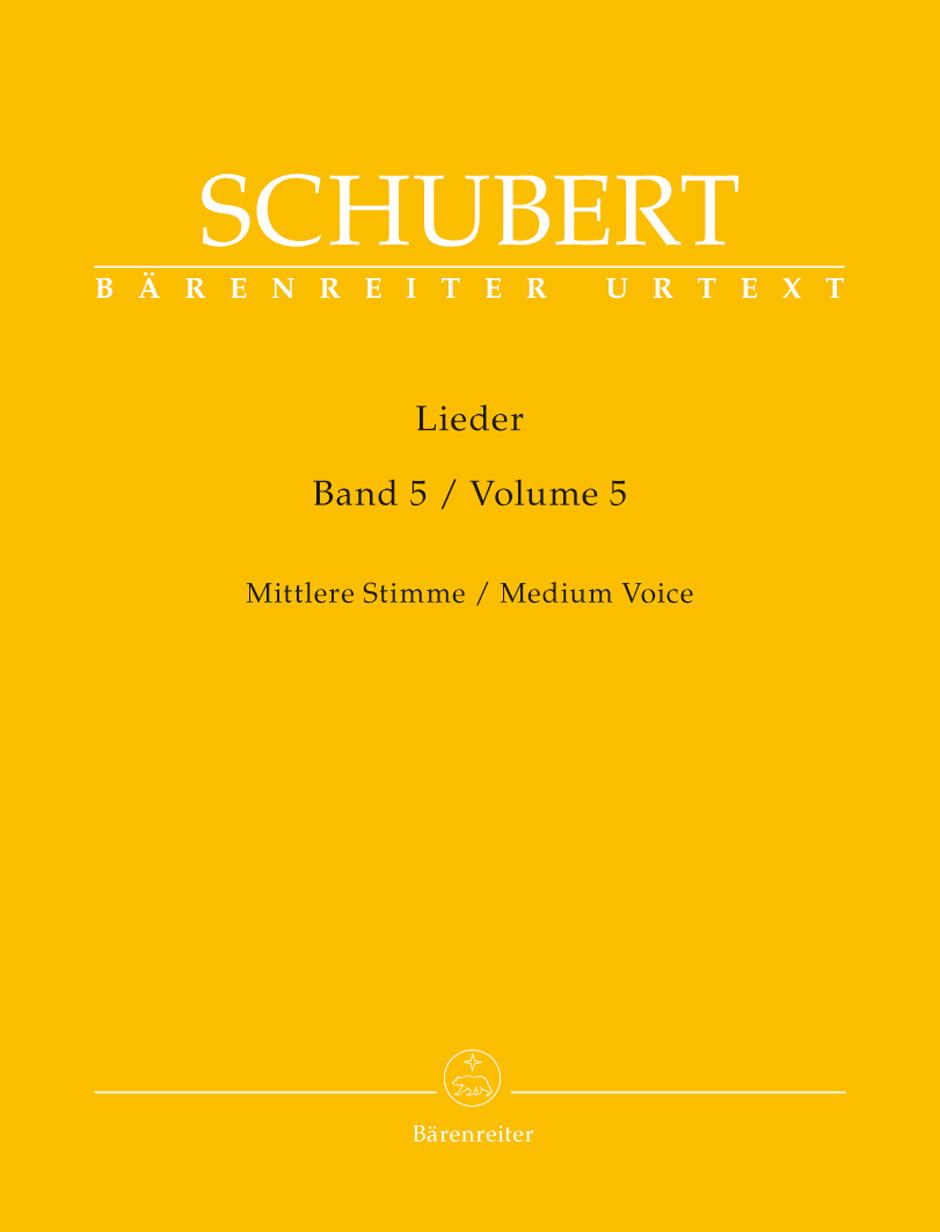 Franz Schubert: Lieder - Volume 5: Voice: Vocal Album