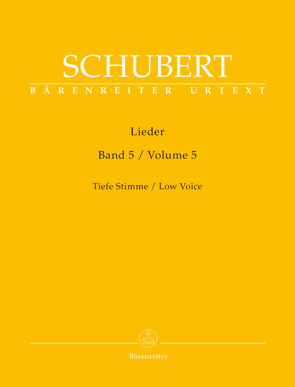Franz Schubert: Lieder Volume 5 - Low Voice: Voice: Vocal Album