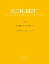 Franz Schubert: Lieder Volume 9: Low Voice: Vocal Album