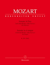 Wolfgang Amadeus Mozart: Piano Sonata in A major: Piano: Instrumental Work