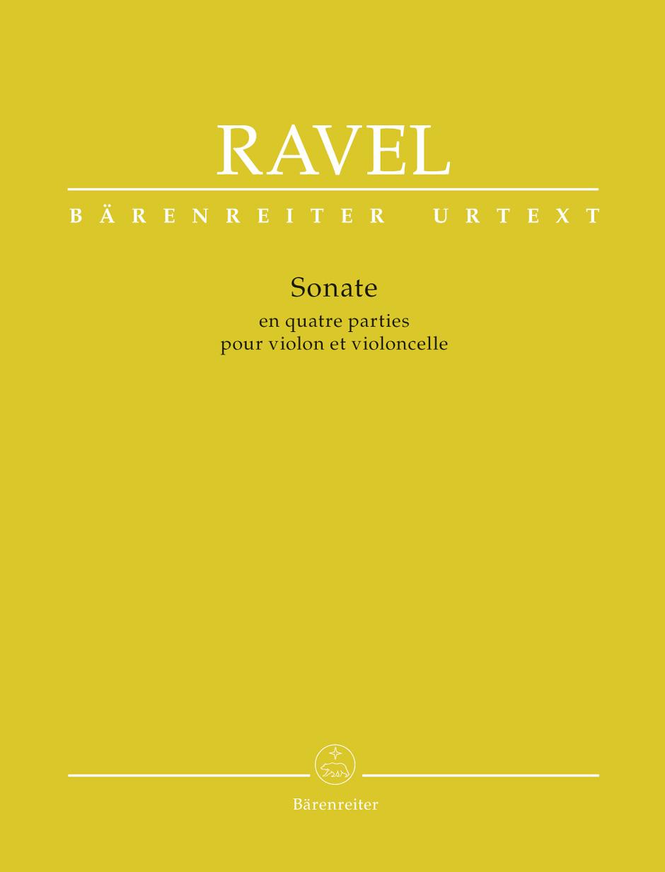 Maurice Ravel: Sonata For Violin And Violoncello: Violin & Cello: Score and