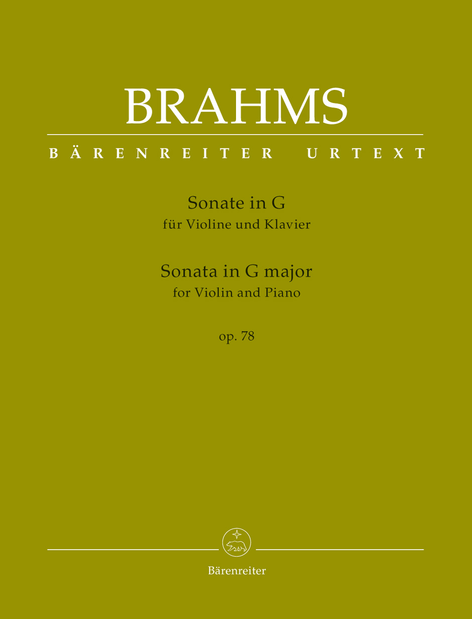 Johannes Brahms: Sonata in G major for Violin and Piano op. 78: Violin: