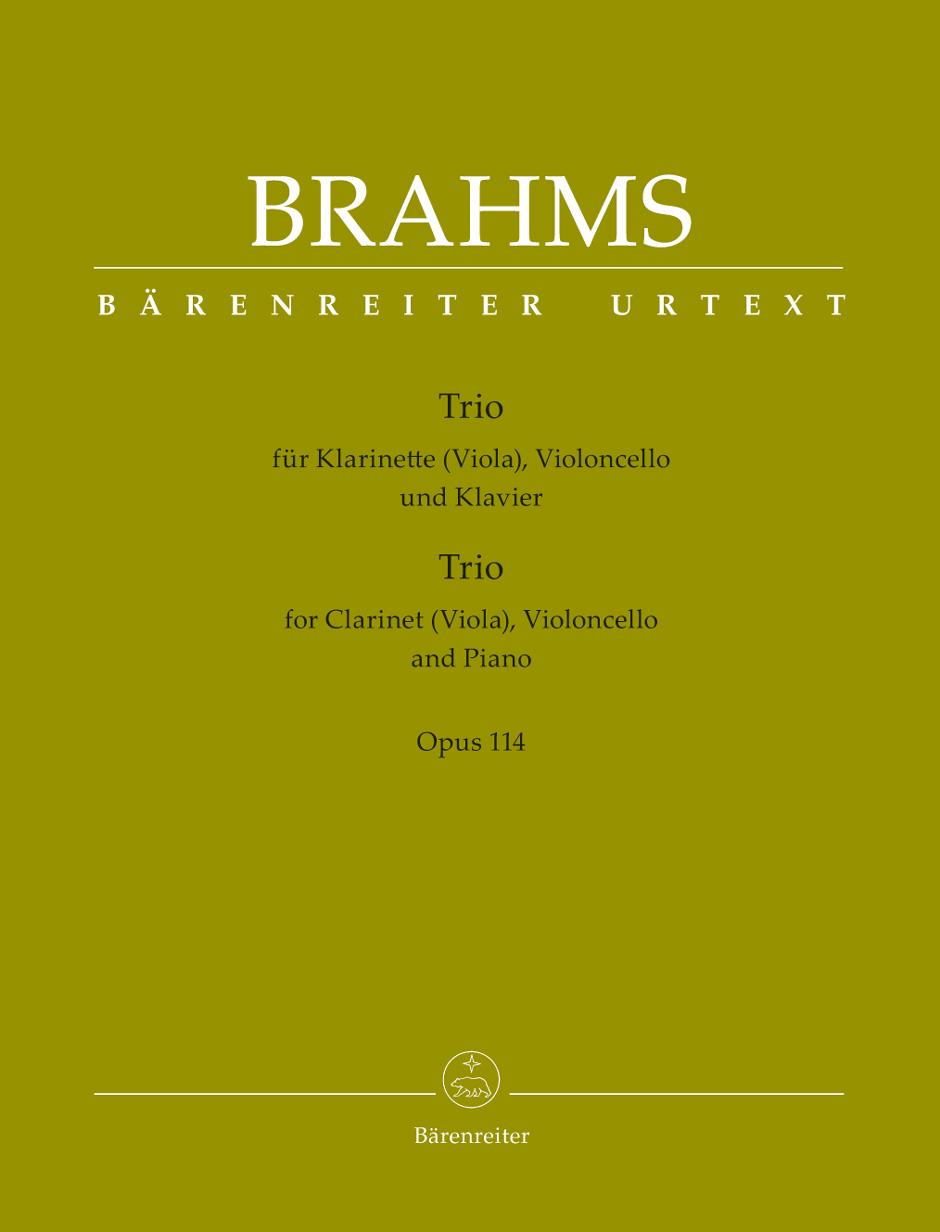 Johannes Brahms: Trio For Clarinet: Ensemble: Score and Parts