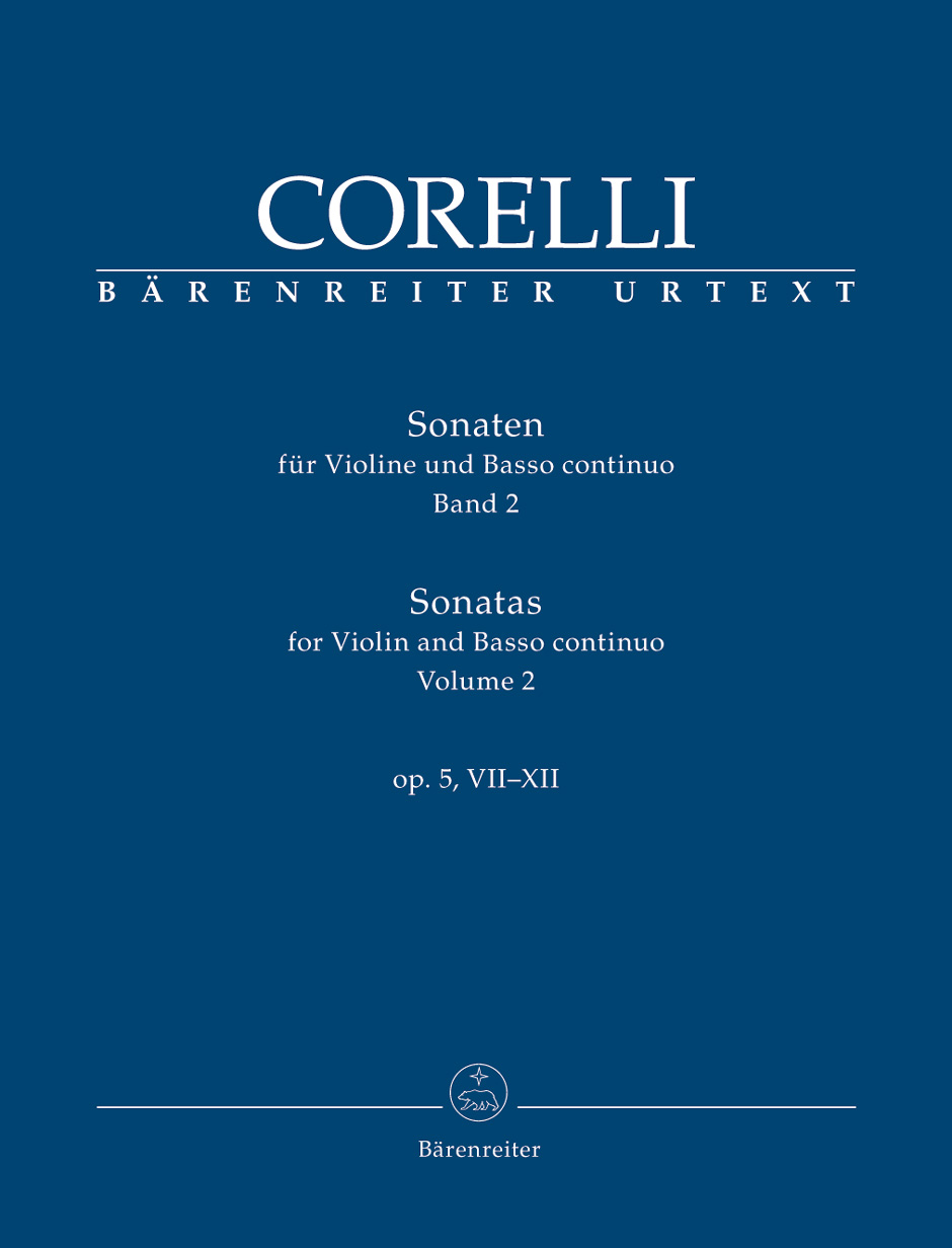 Arcangelo Corelli: Sonatas For Violin & Basso Continuo Op. 5  VII-XII: Violin: