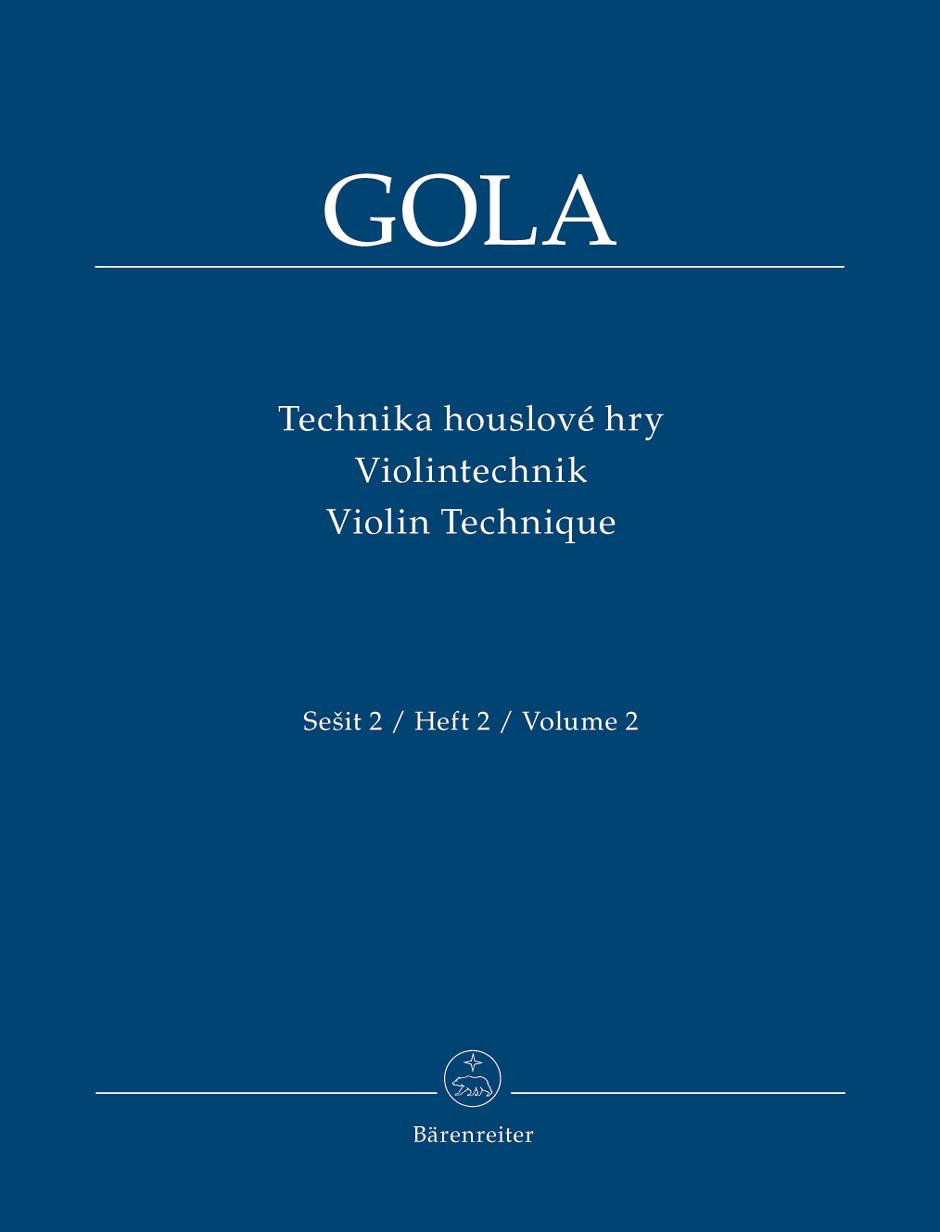 Zdenek Gola: Violin Technique - Volume II: Violin: Instrumental Album