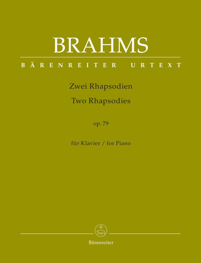 Johannes Brahms: Two Rhapsodies For Piano Op. 79: Piano: Part