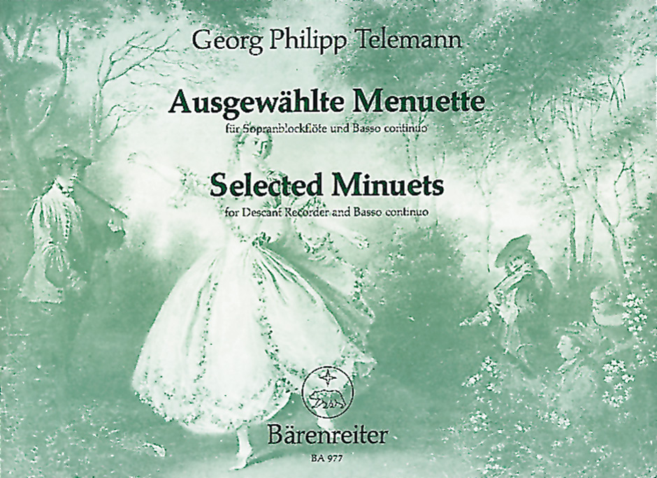 Georg Philipp Telemann: Selected Minuets For Descant Recorder And Piano: