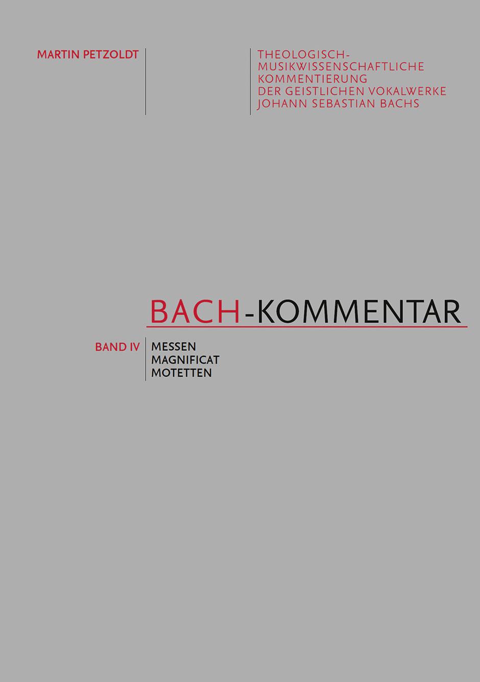 Bach-Kommentar  Volume IV: Reference
