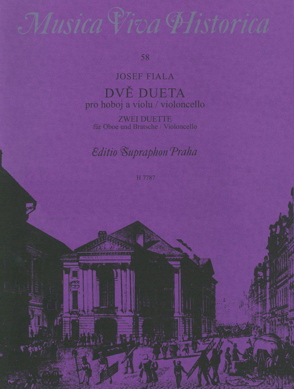 Josef Fiala: Zwei Duette fur Oboe und BratscheorVioloncello: Mixed Duet: