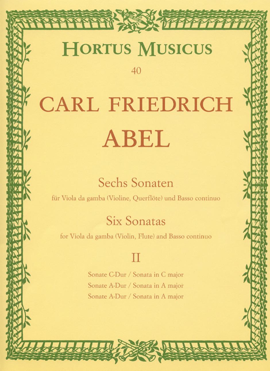Carl Friedrich Abel: Sonatas 4-6 Vagb Bc: Chamber Ensemble: Instrumental Work