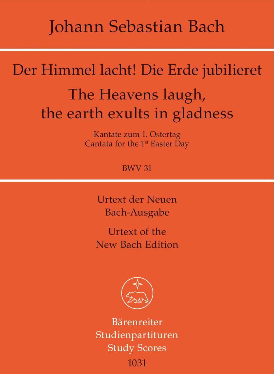 Johann Sebastian Bach: Cantata BWV 31 Der Himmel Lacht!: Mixed Choir: Study