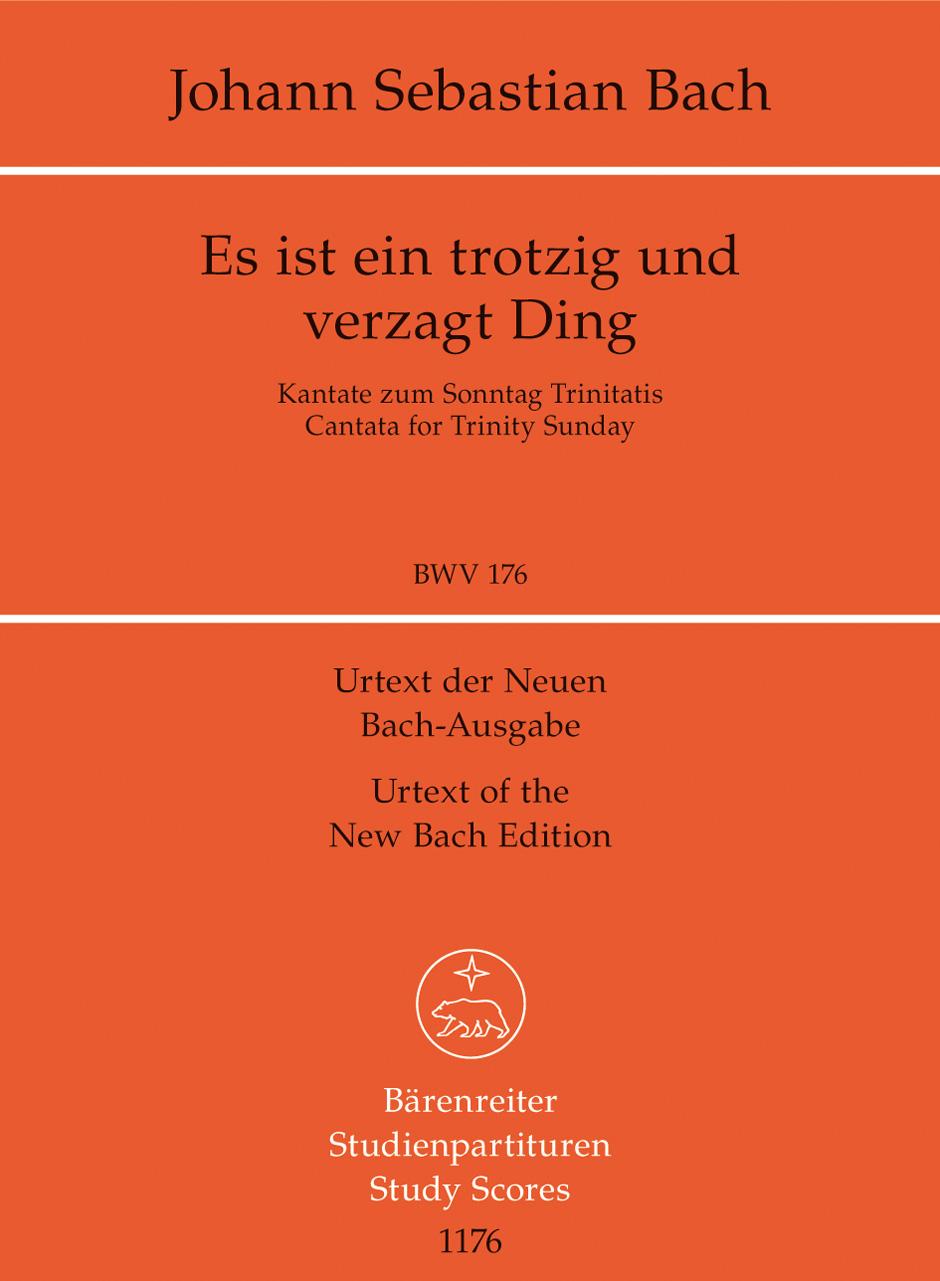 Johann Sebastian Bach: Cantata BWV 176: SATB: Study Score