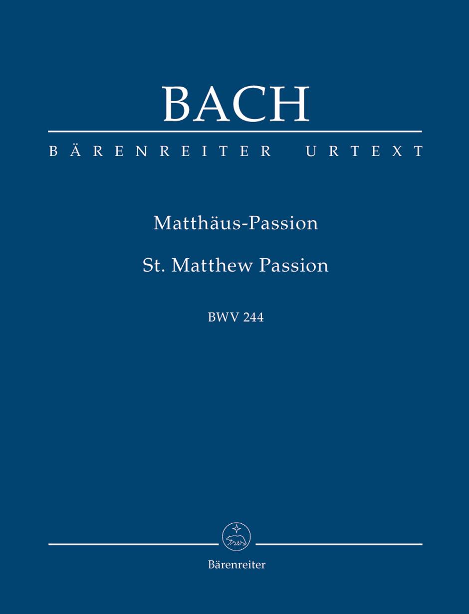 Johann Sebastian Bach: St Matthew Passion BWV 244: Orchestra: Study Score