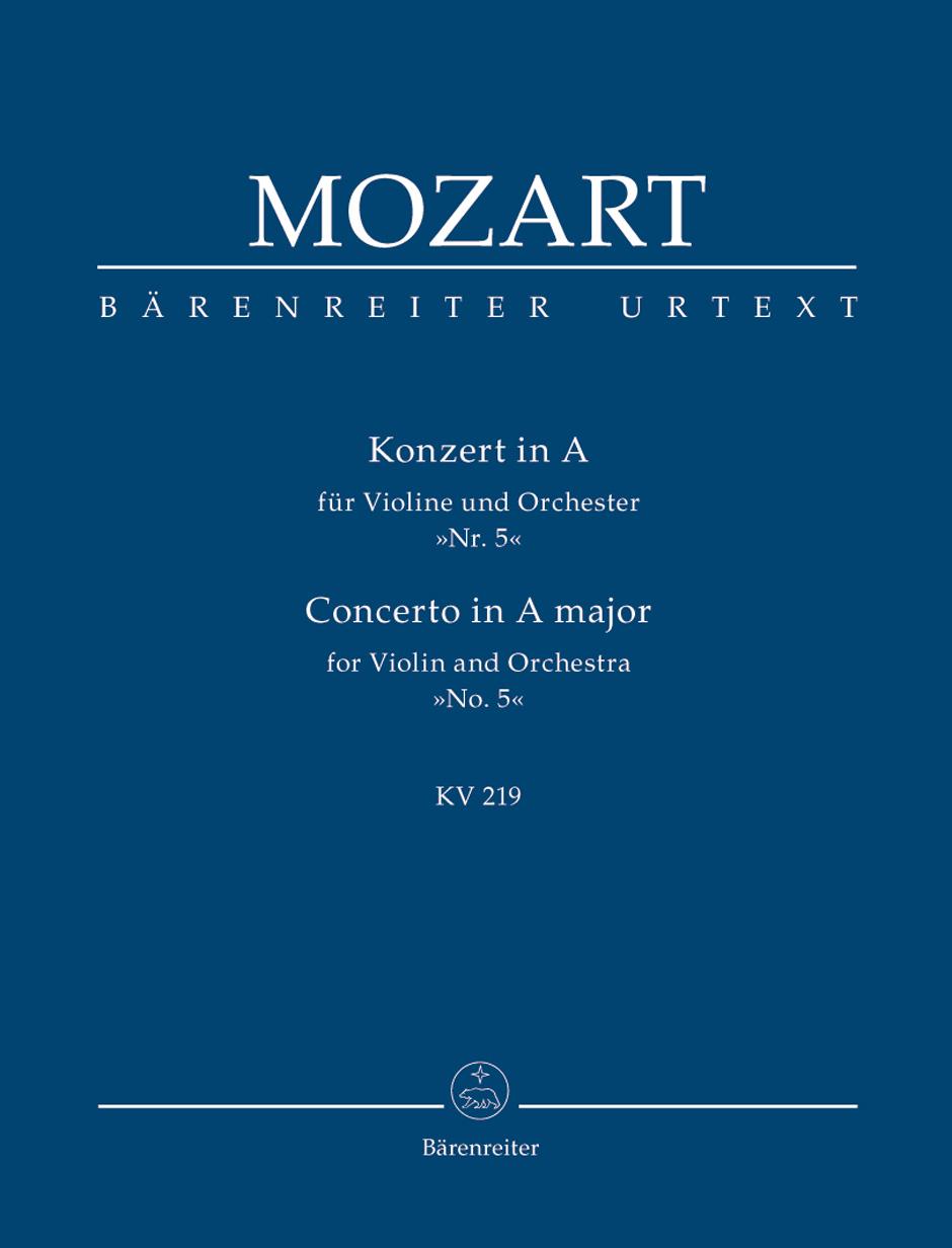 Wolfgang Amadeus Mozart: Violin Concerto No.5 In A K.219: Violin: Study Score