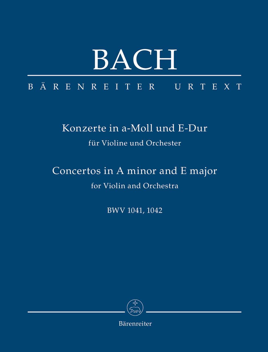 Johann Sebastian Bach: Violin Concertos In A Minor: Violin: Study Score