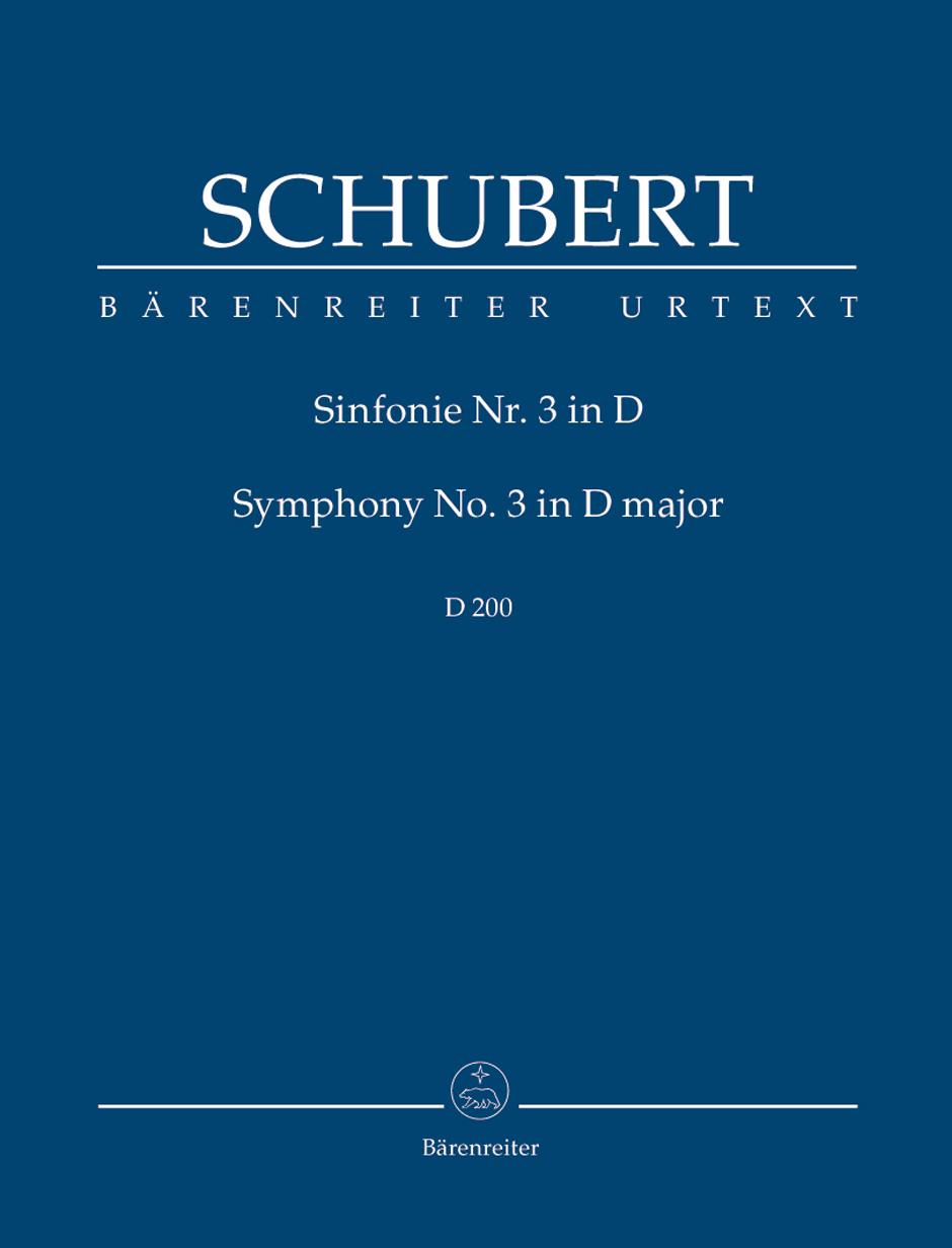 Franz Schubert: Symphony No.3 In D - D 200: Orchestra: Study Score