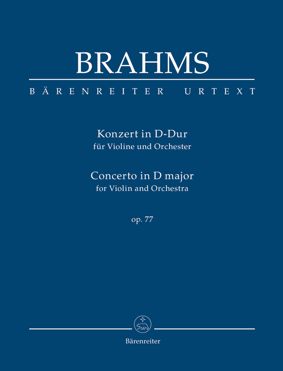 Johannes Brahms: Concert D Op.77: Violin: Study Score