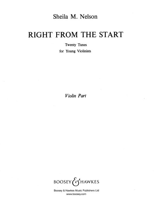 Right from the Start: Violin: Part