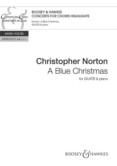 Christopher Norton: A Blue Christmas: SATB: Vocal Score