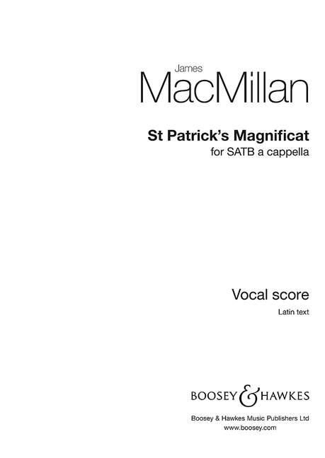 James MacMillan: St Patrick's Magnificat: SATB: Vocal Work