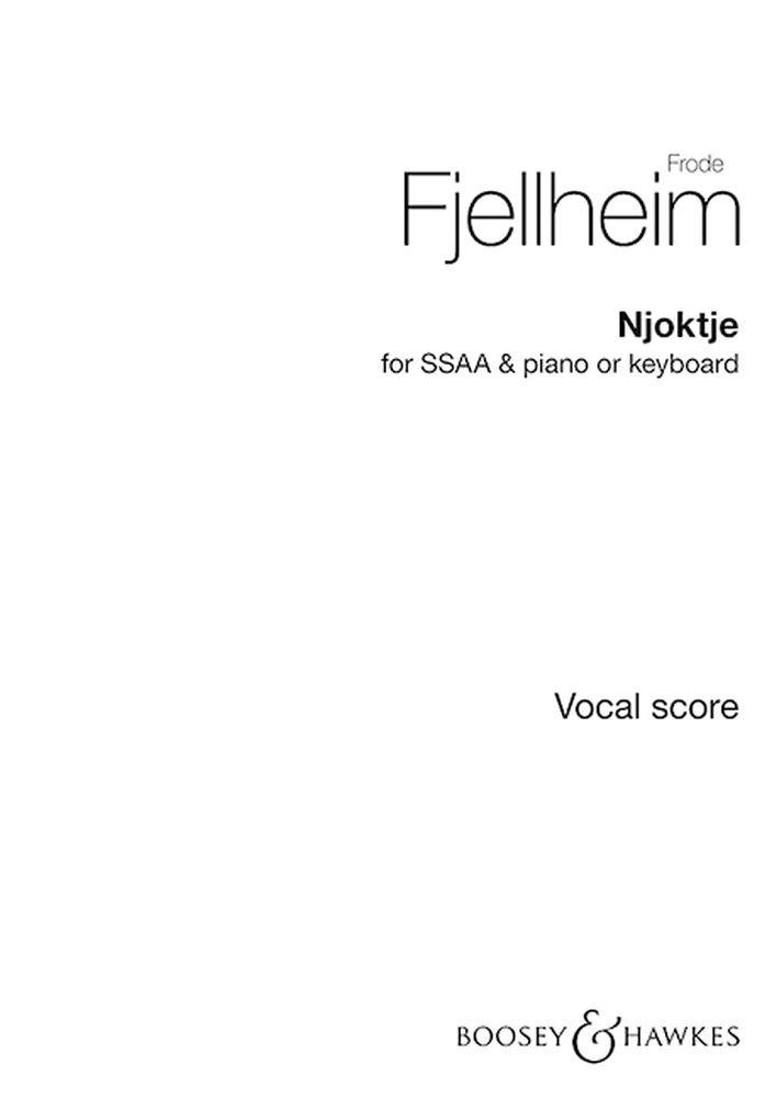 Njoktje: SSAA: Vocal Score