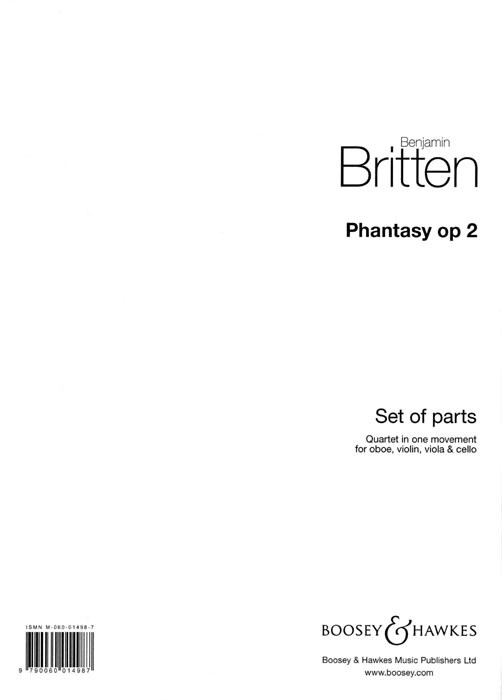 Benjamin Britten: Phantasy Quartet Op. 2: Ensemble: Parts