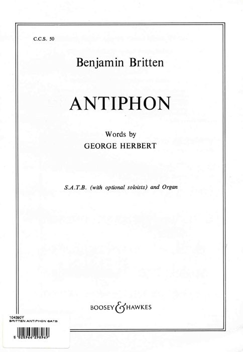 Benjamin Britten: Antiphon: SATB: Vocal Score