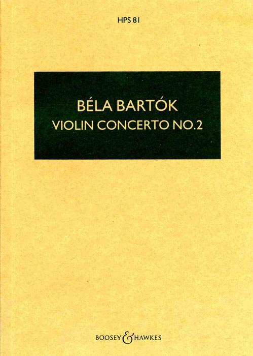 Béla Bartók: Violin Concerto No.2: Violin: Miniature Score