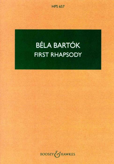 Béla Bartók: Rhapsodie Nr. 1: Violin