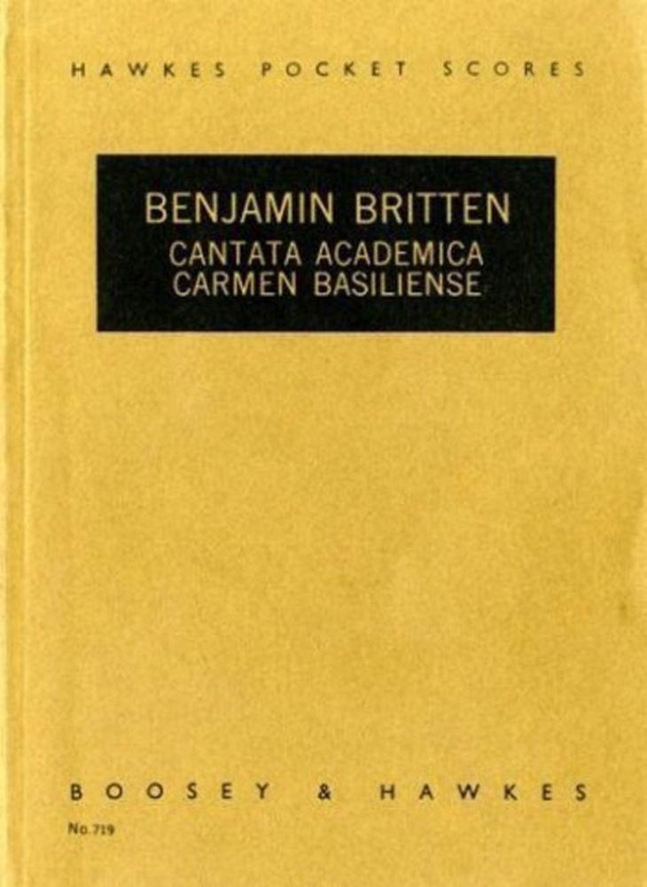 Benjamin Britten: Cantata Academica op. 62: SATB