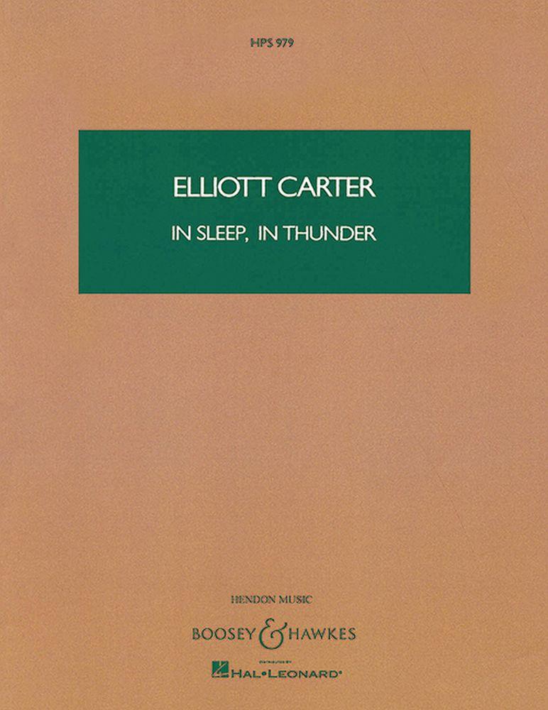 Elliott Carter: In Sleep  In Thunder: Tenor: Score