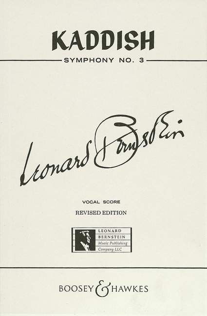 Leonard Bernstein: Kaddish: Soprano & SATB: Vocal Score
