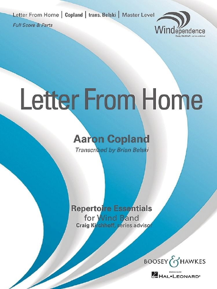 Aaron Copland: Letter From Home: Concert Band: Score