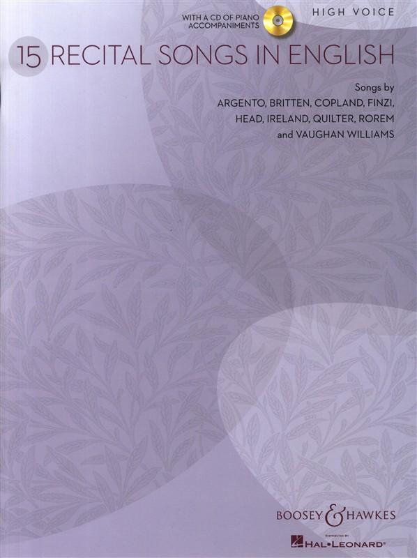 15 Recital Songs in English: High Voice: Vocal Album