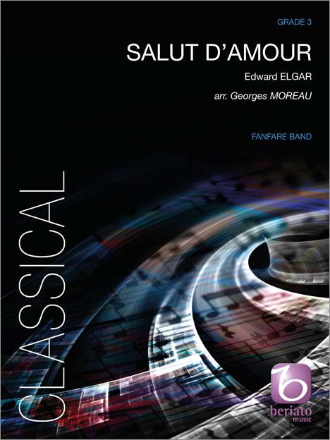 Edward Elgar: Salut d'Amour: Fanfare Band: Score & Parts