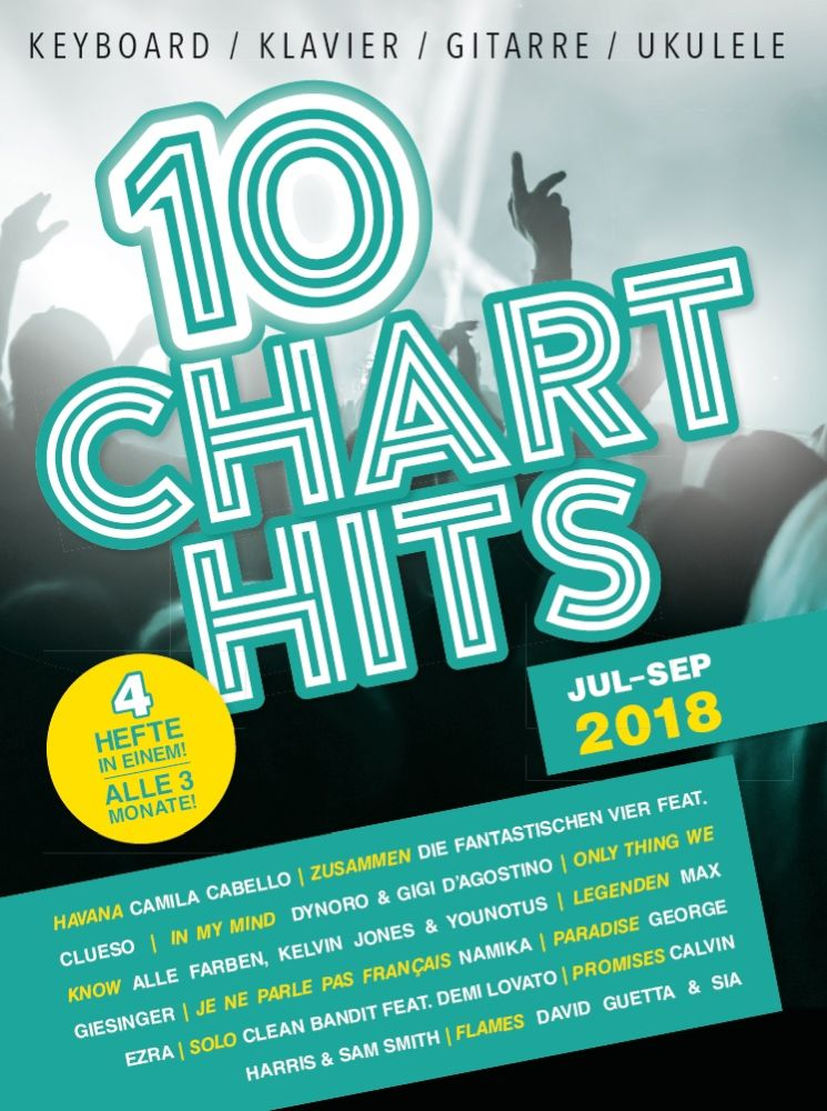 10 Charthits - Juli bis September 2018: Piano  Vocal  Guitar: Mixed Songbook