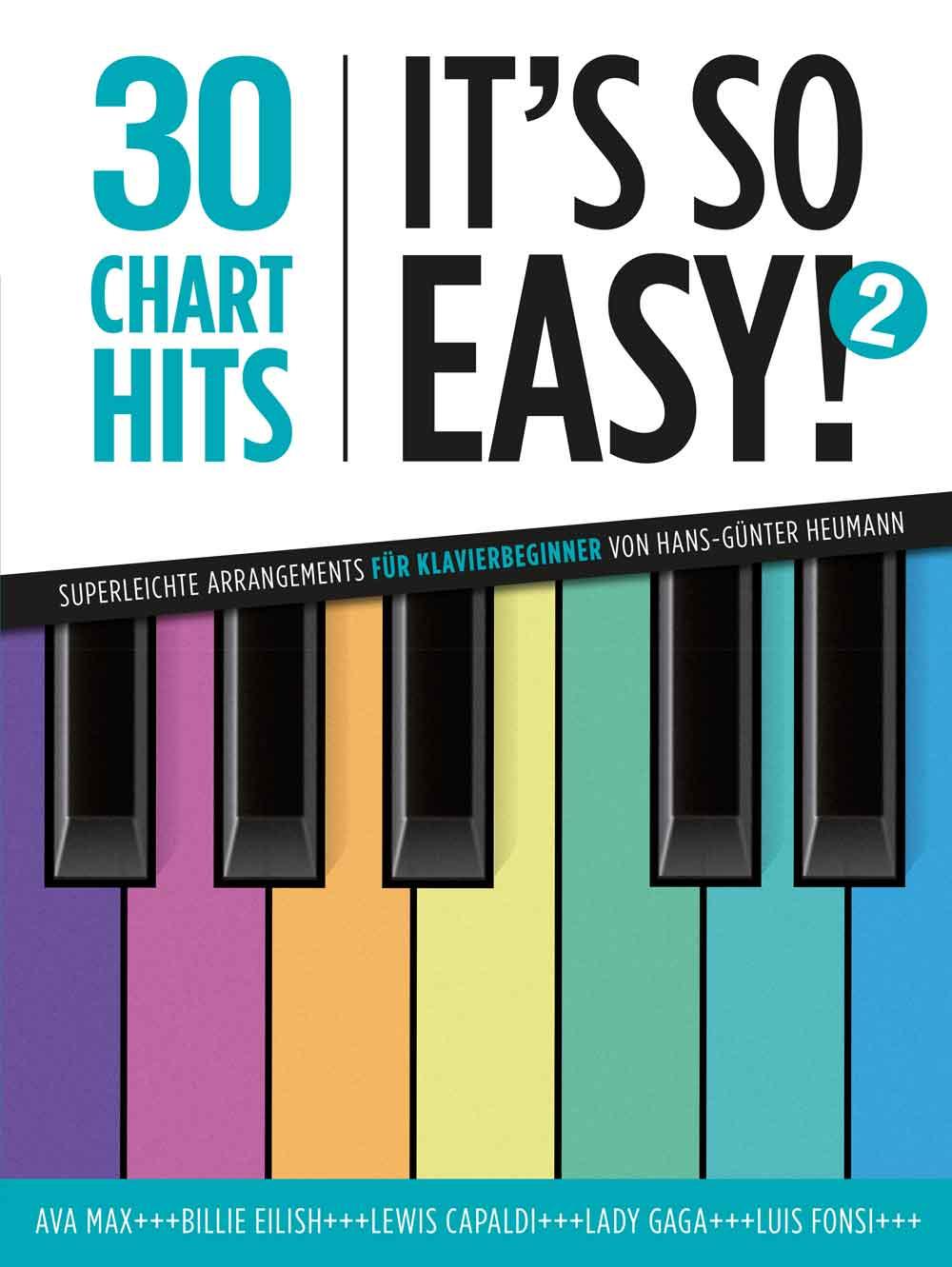 30 Charthits - It's So Easy! 2: Easy Piano: Instrumental Album