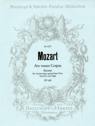 Wolfgang Amadeus Mozart: Ave verum Corpus (PA): Score