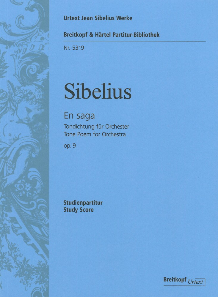 Jean Sibelius: En Saga Op.9 - Tone Poem For Orchestra: Orchestra: Study Score