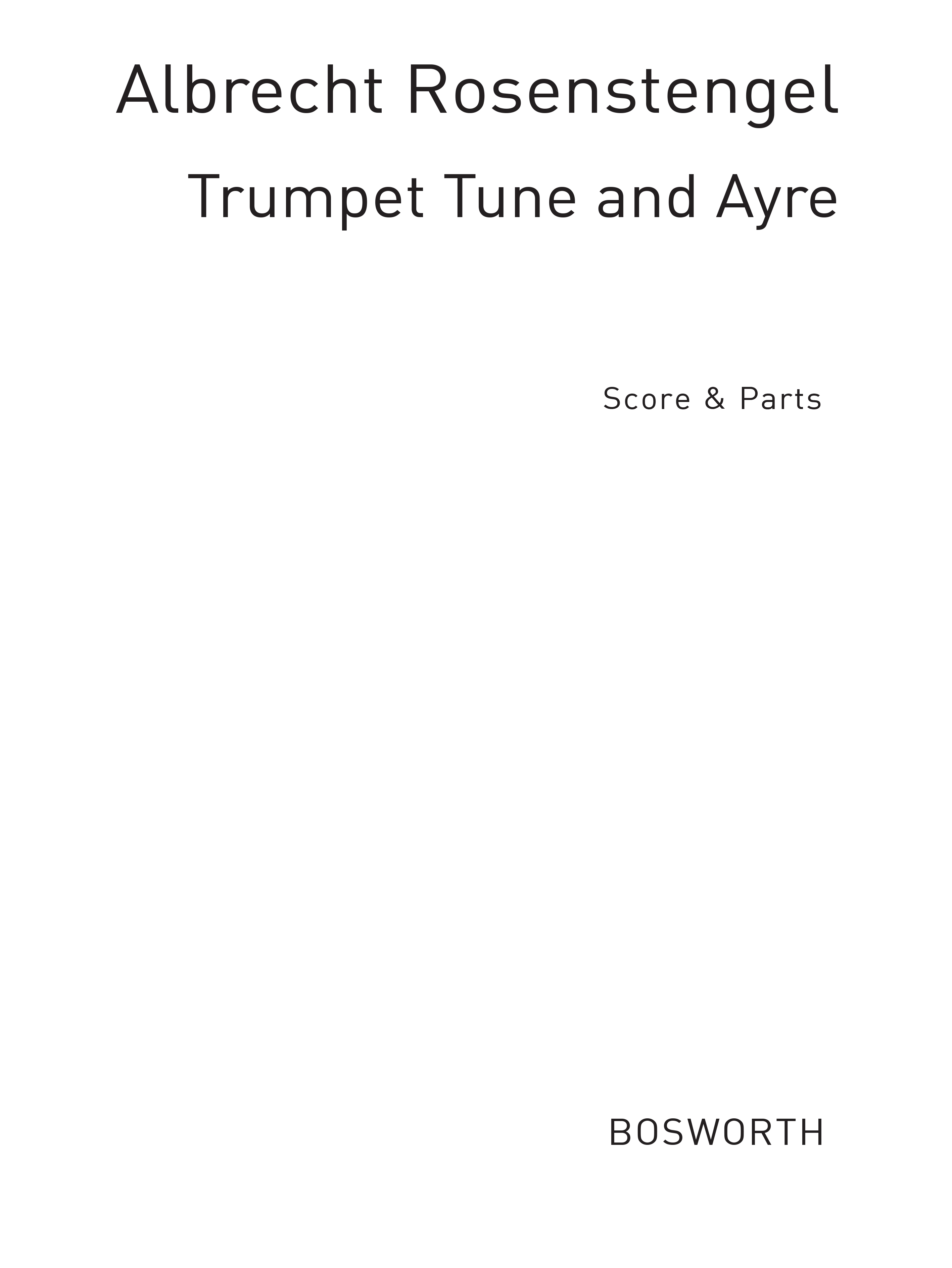 Henry Purcell: Trumpet Tune And Ayre: Recorder Ensemble: Score and Parts