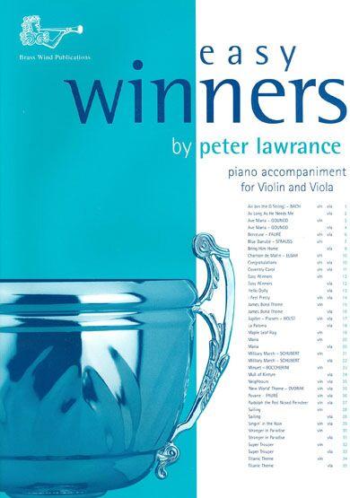 Peter Lawrance: Easy Winners for Violin/Viola: String Duet: Instrumental Album