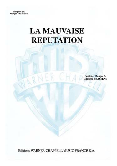 Georges Brassens: La Mauvaise Réputation: Voice: Single Sheet