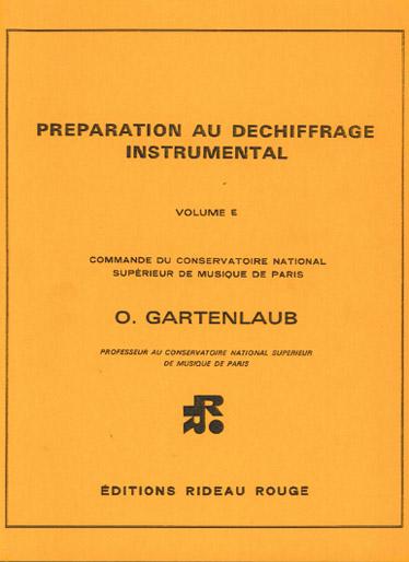 Preparation au Dechiffrage Instrumental : Volume E - Superieur