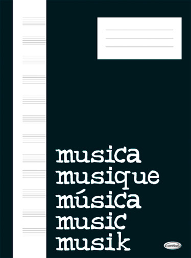 Quaderno Di Musica: Block  Cahier De Musique Carta Avoriata